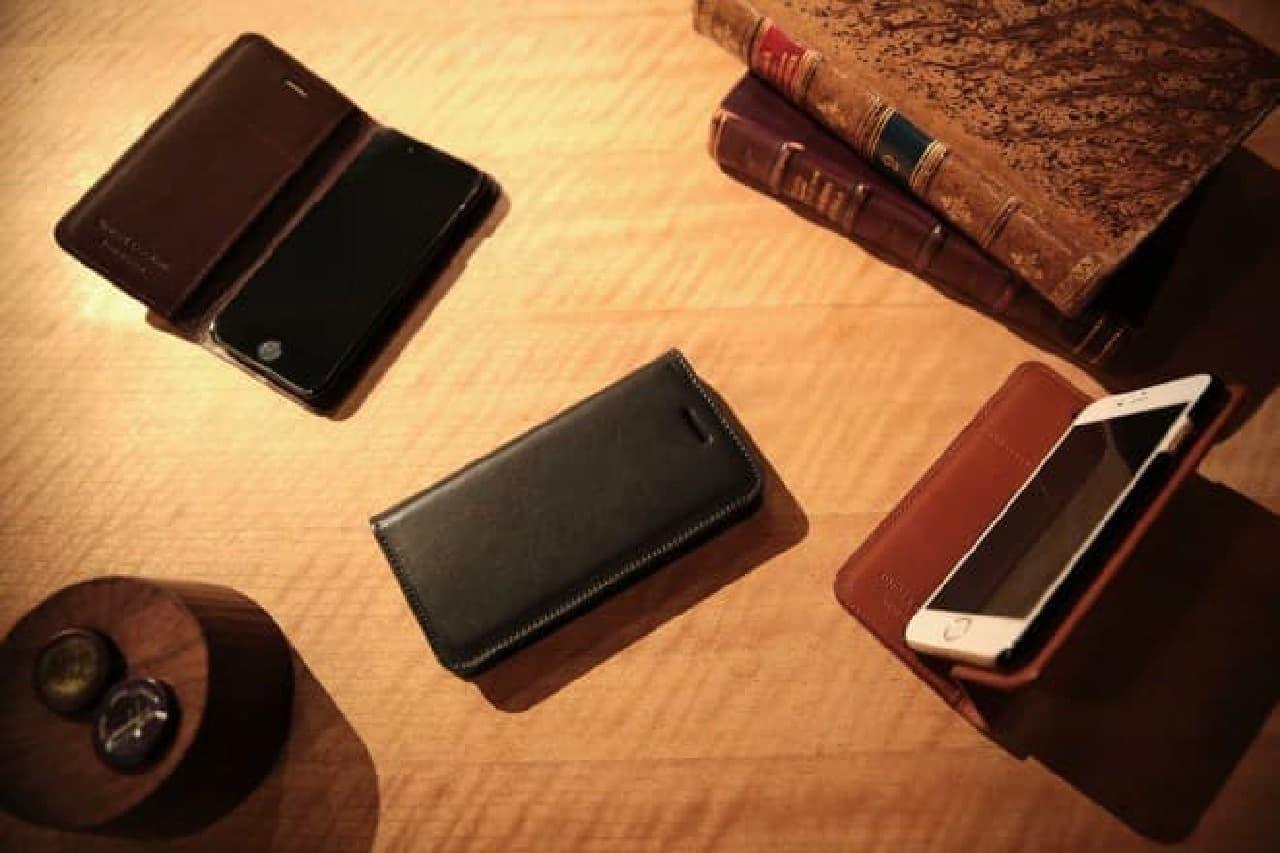 牛革iPhoneケースのイメージ