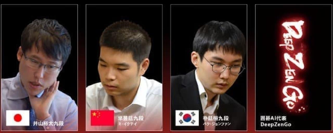 WGCの参加棋士画像