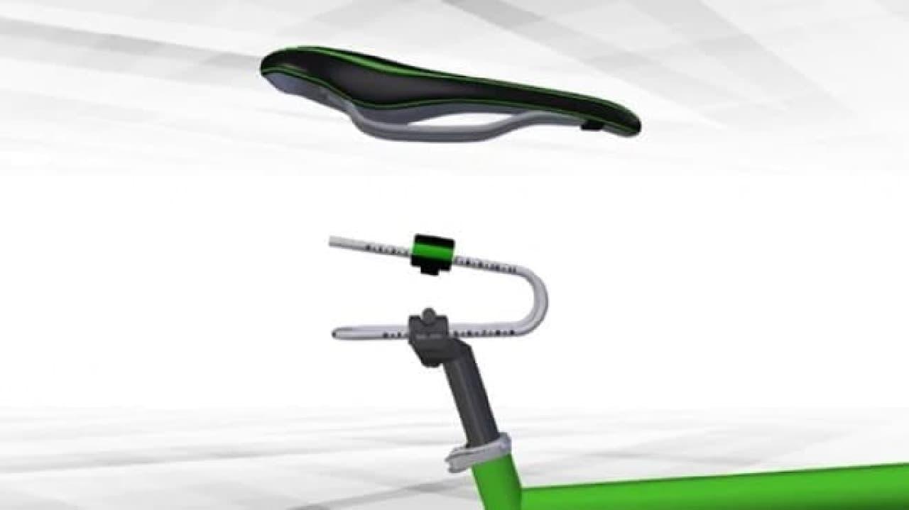 自転車走行時の、お尻の痛みを軽減する「Rinsten Spring」