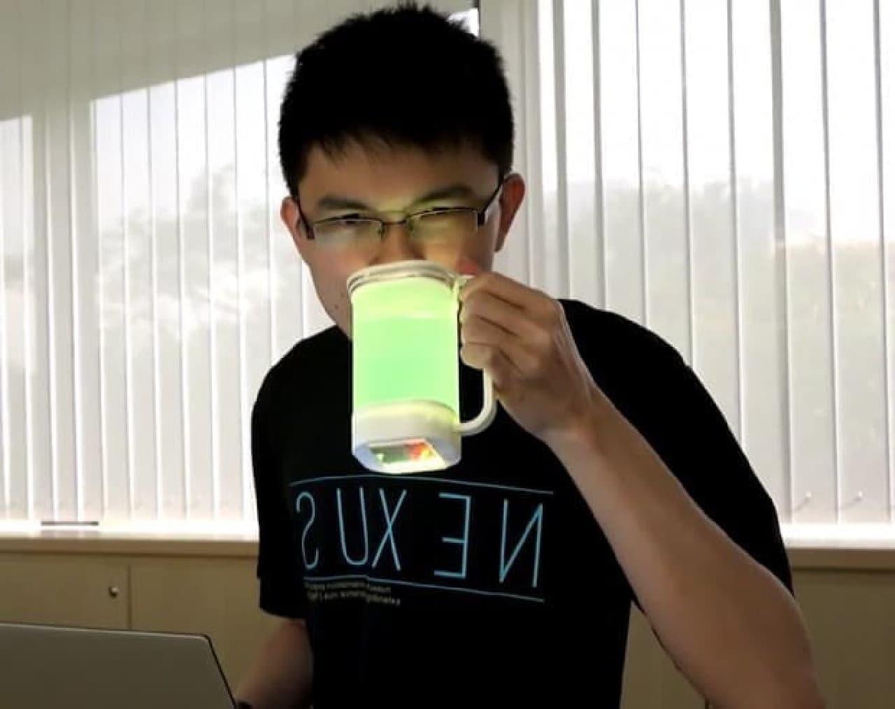 飲み物の味をデジタル転送する技術、開発中