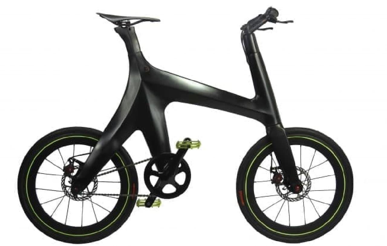 カーボンファイバーフレームの自転車「Minimal Bike」