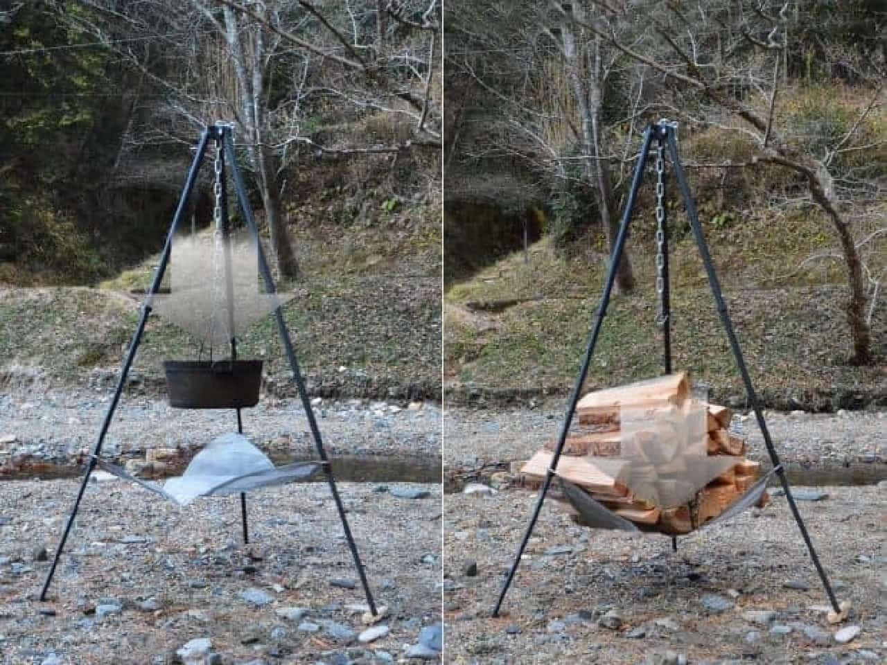 静止耐荷重量20kgのトライポッド「ビッグファイアクレードル」