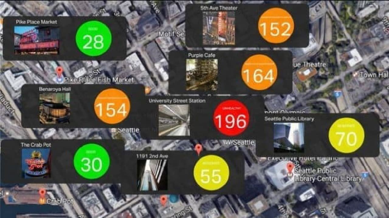 iPhoneで、空気の汚れを見える化…「Sprimo Personal Air Monitor」