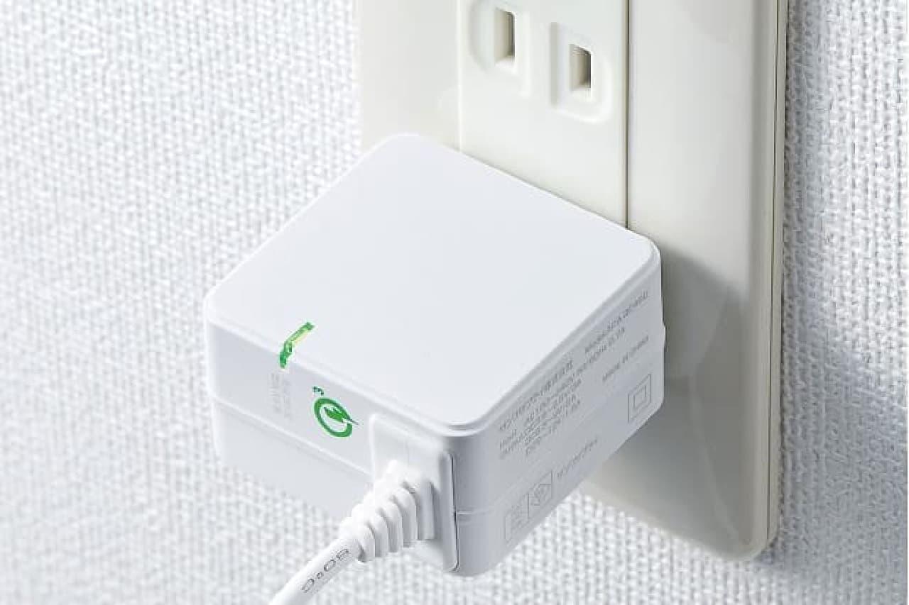 USB Type Cケーブルつき充電器