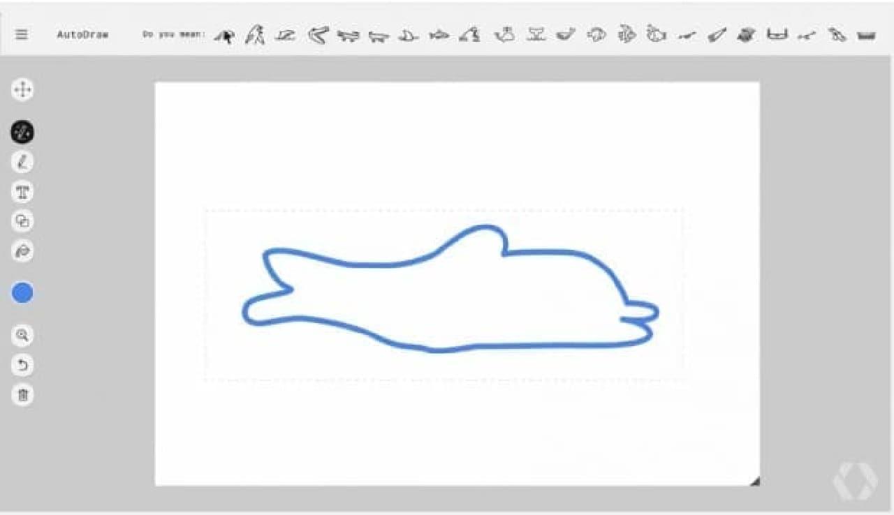 イルカの落書き?