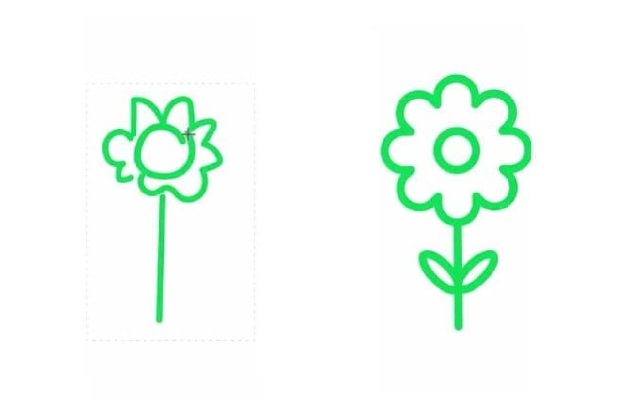 花の落書きとイラスト