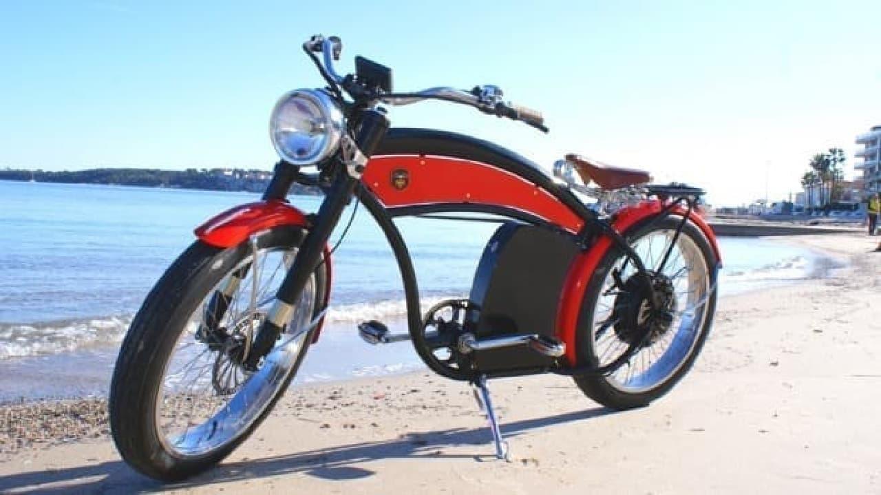 クラシックバイク風の電動アシスト自転車「Lord Bike」