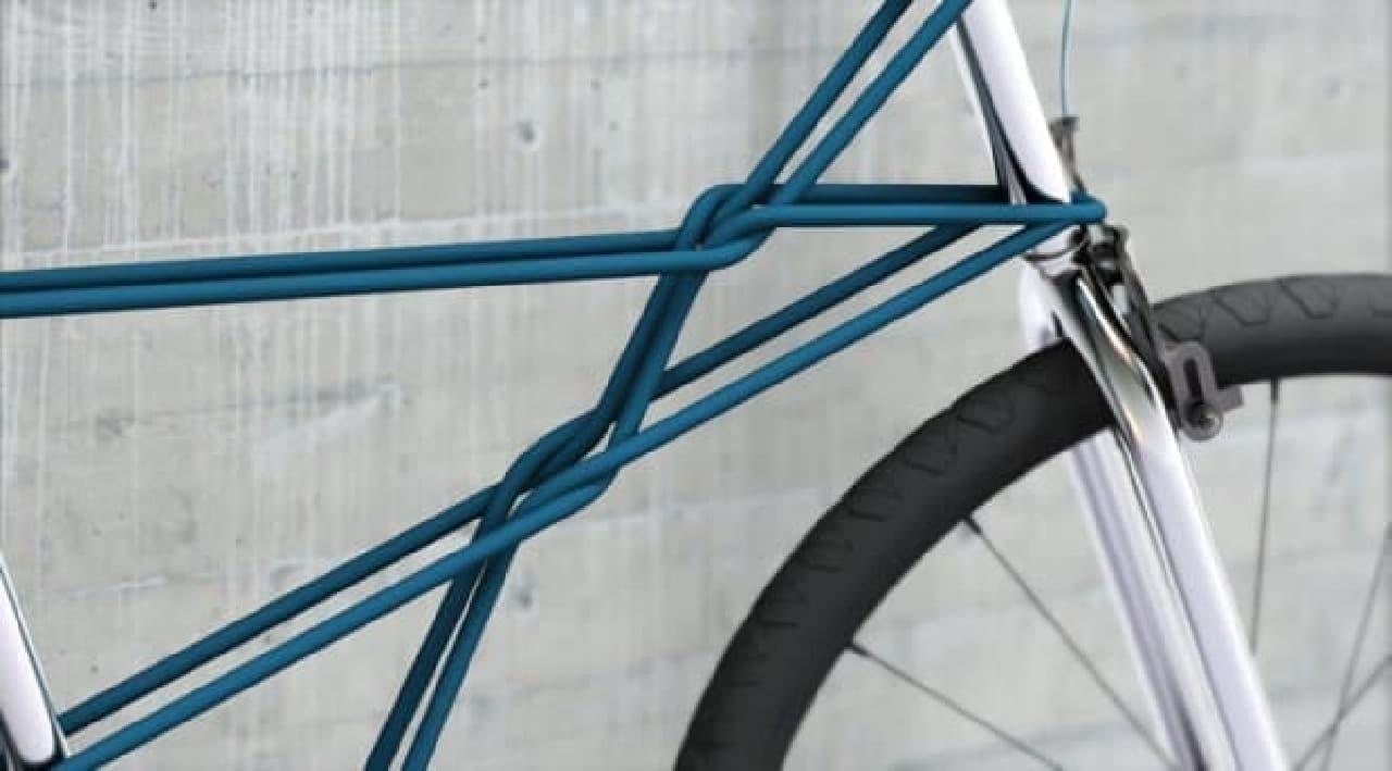 自転車のフレームがロープ?に見える「ROPE BIKE」