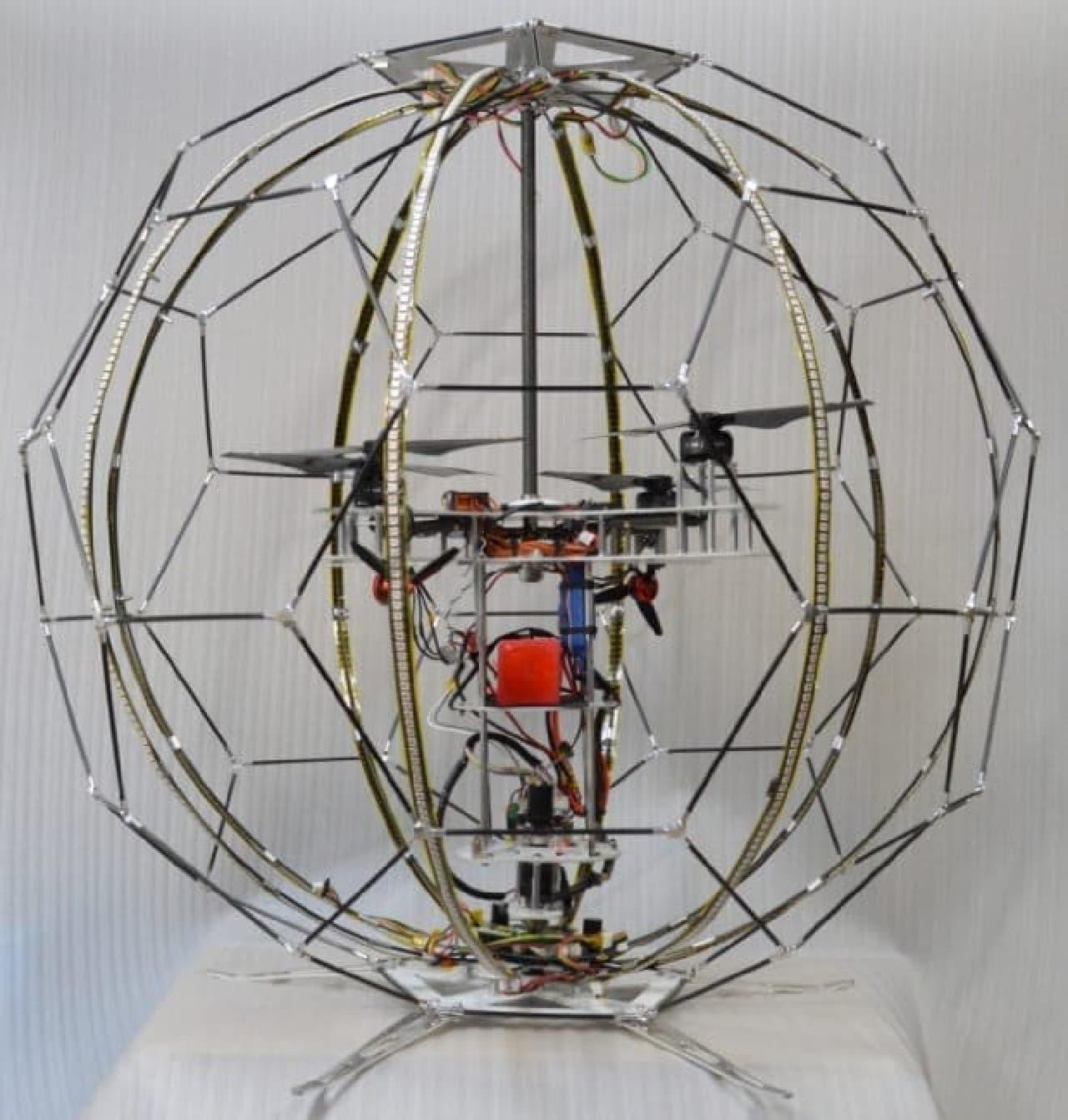浮遊球体ドローンディスプレイ