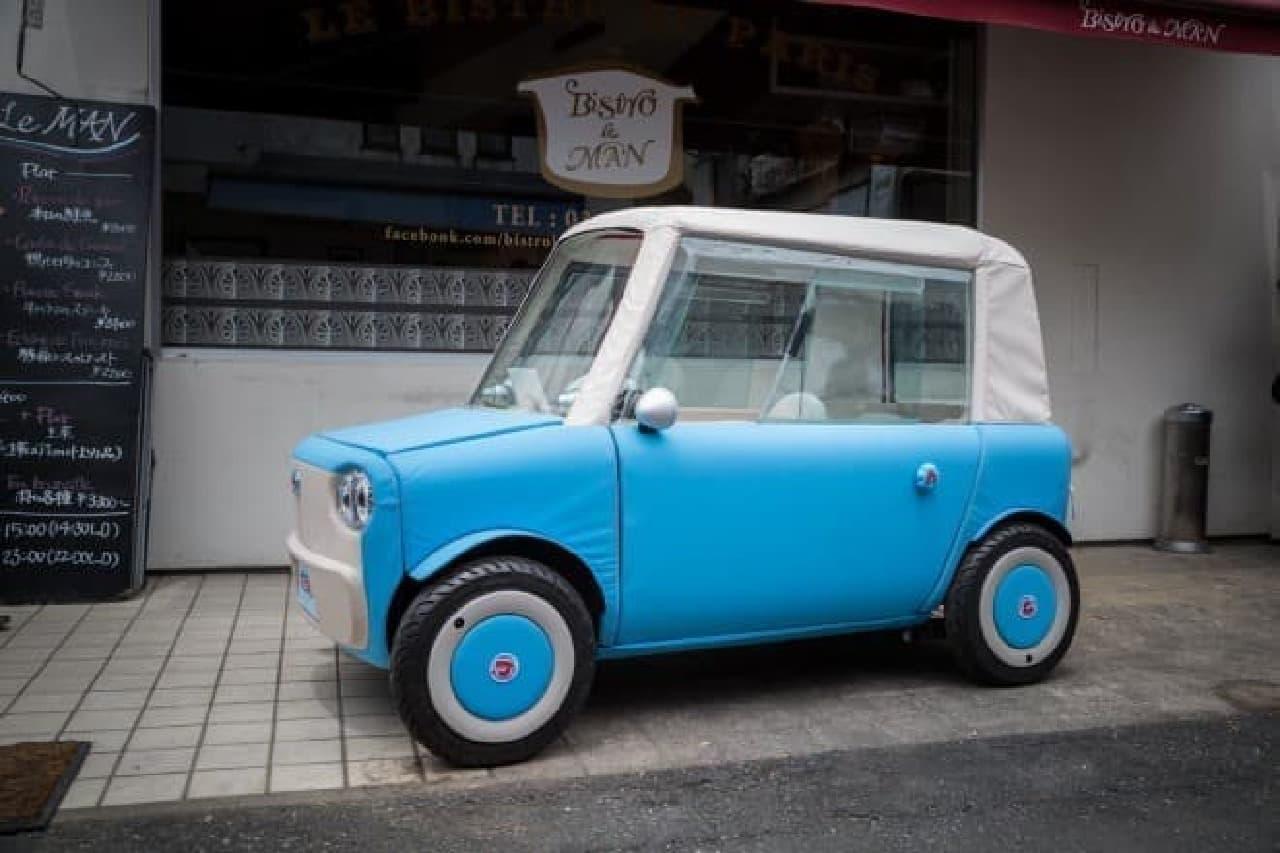 布製ボディの電気自動車「rimOnO(リモノ)」