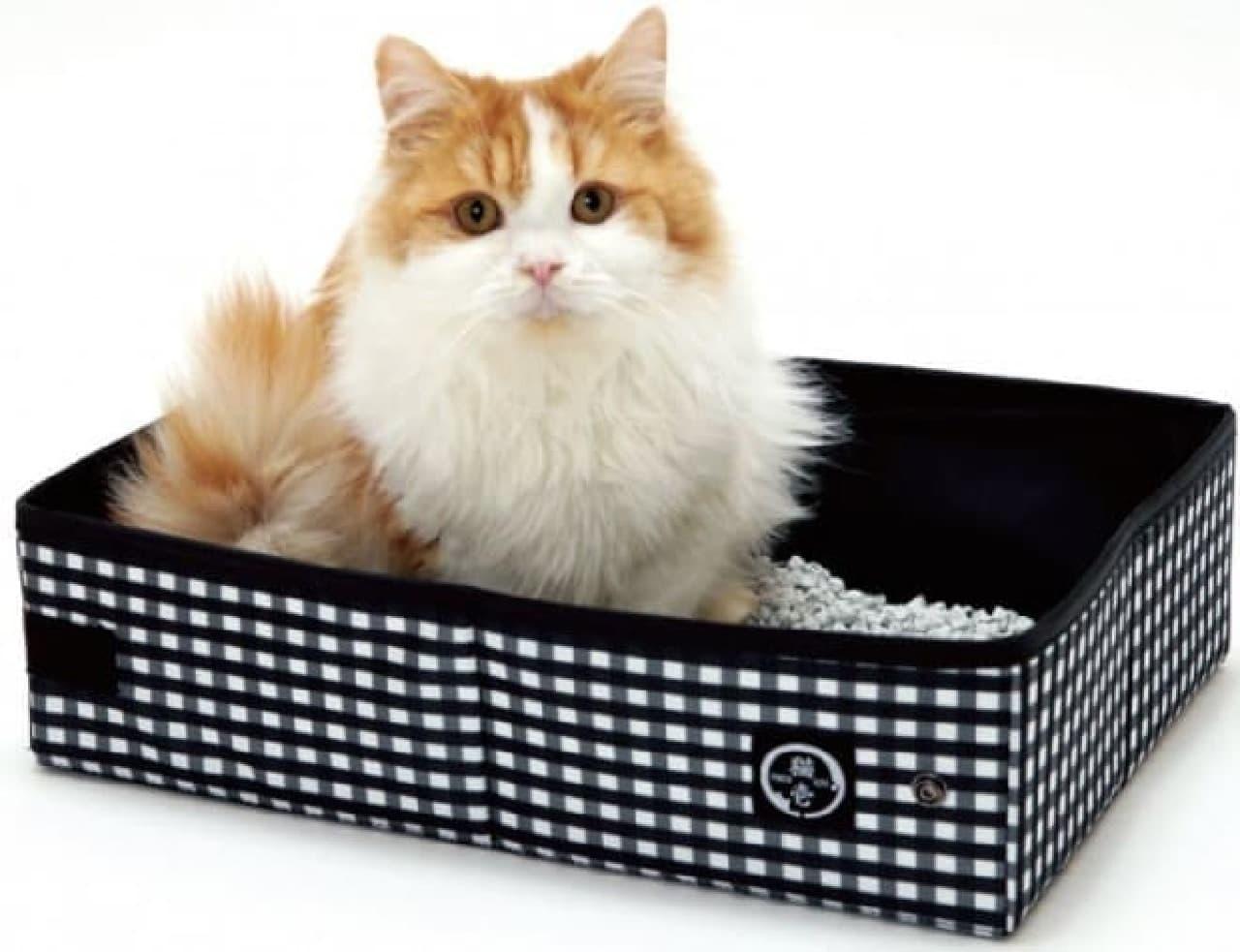 小さく折りたたんで収納可能なネコ用トイレ
