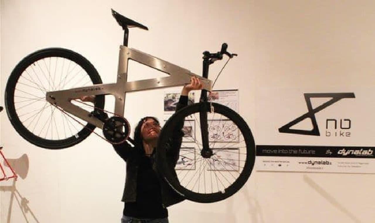 4枚の三角形で作った自転車「NoBike」