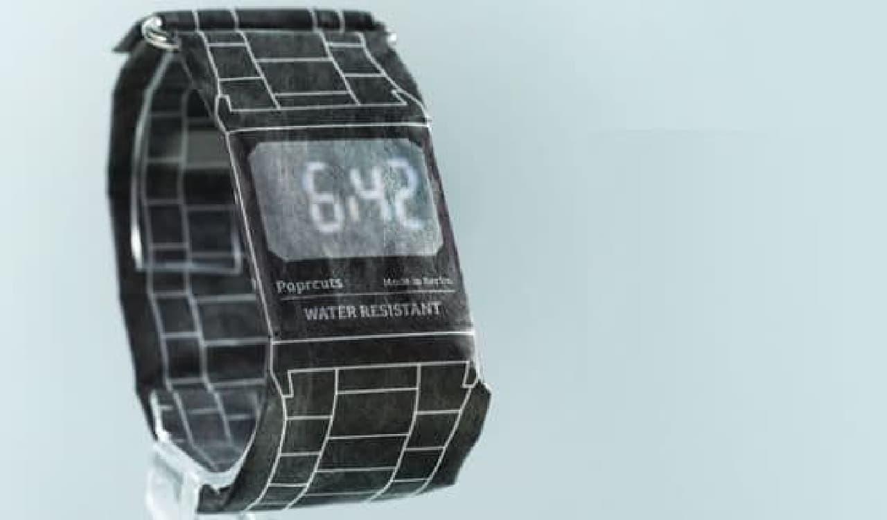 紙でできた腕時計「Paprcuts Watch」