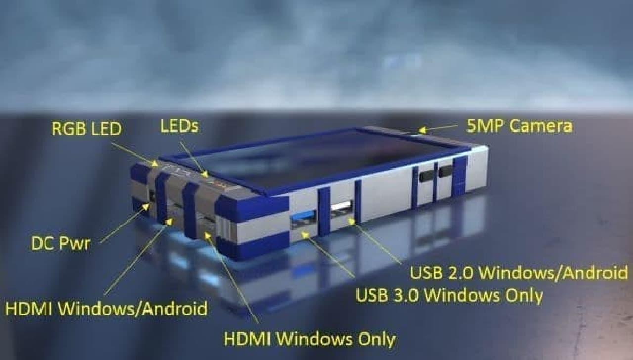 Windows PCとAndroidスマホの一台二役「Trinity Smartphone PC」