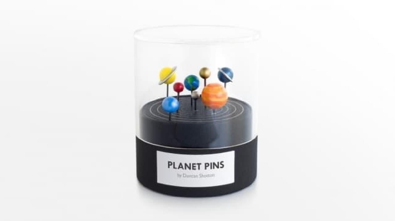 惑星をモチーフにしたピン「Planet Pins」