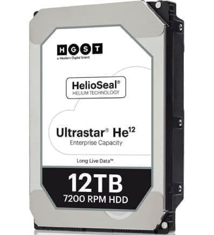 12テラバイトのHDD、ウエスタンデジタルが出荷開始