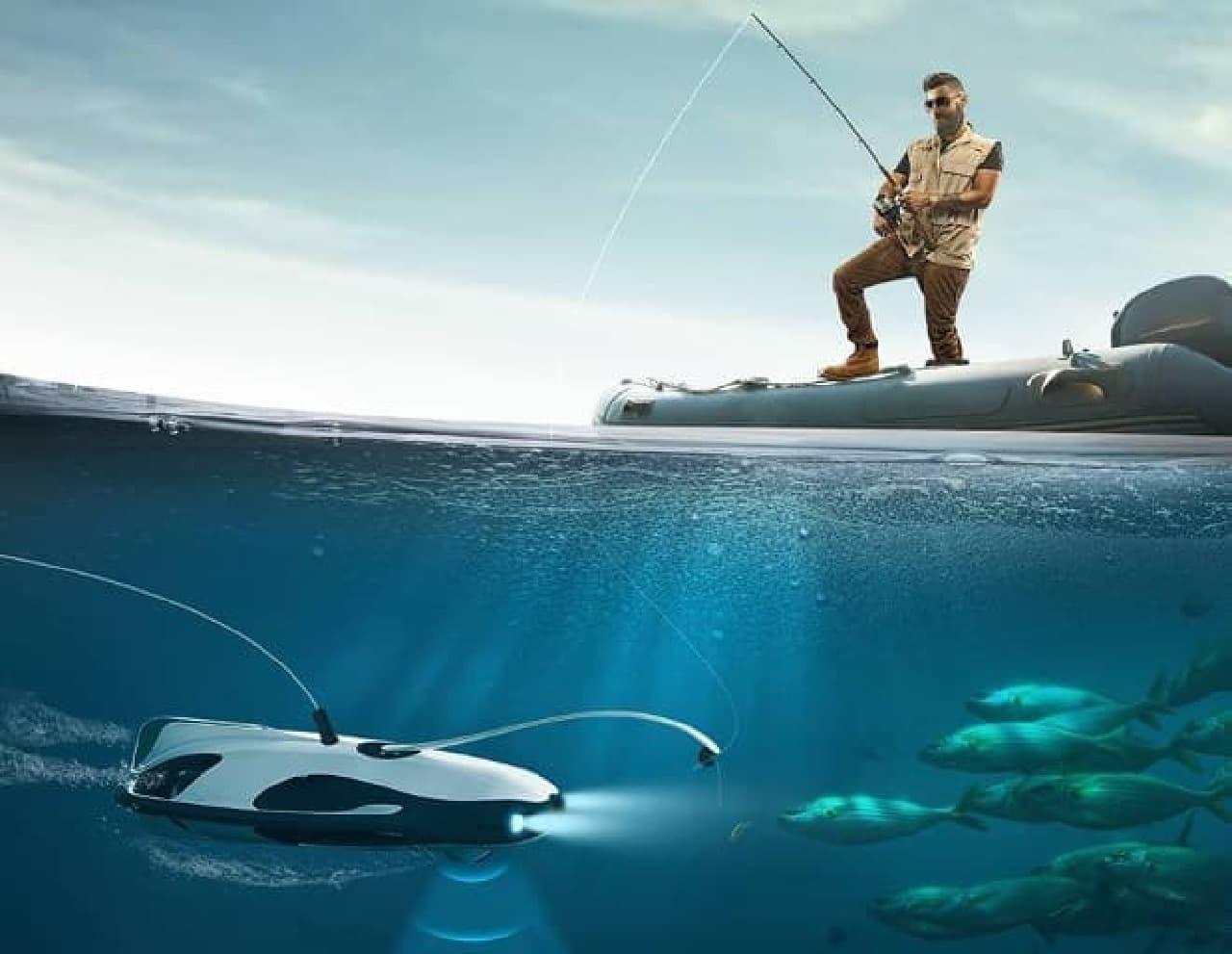 魚釣りドローンのイメージ