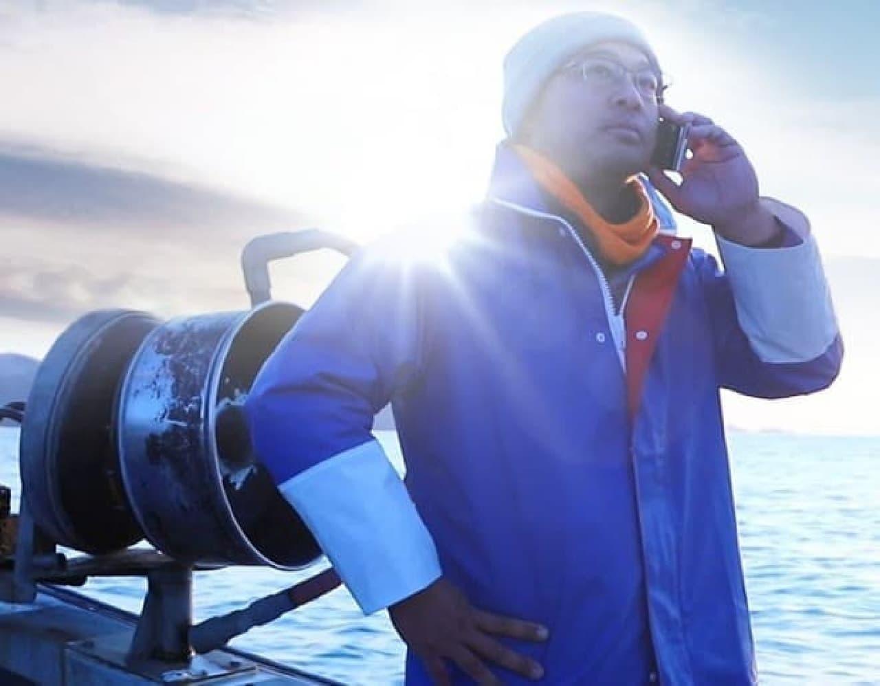 漁師さんによるモーニングコールサービス「FISHERMAN CALL」