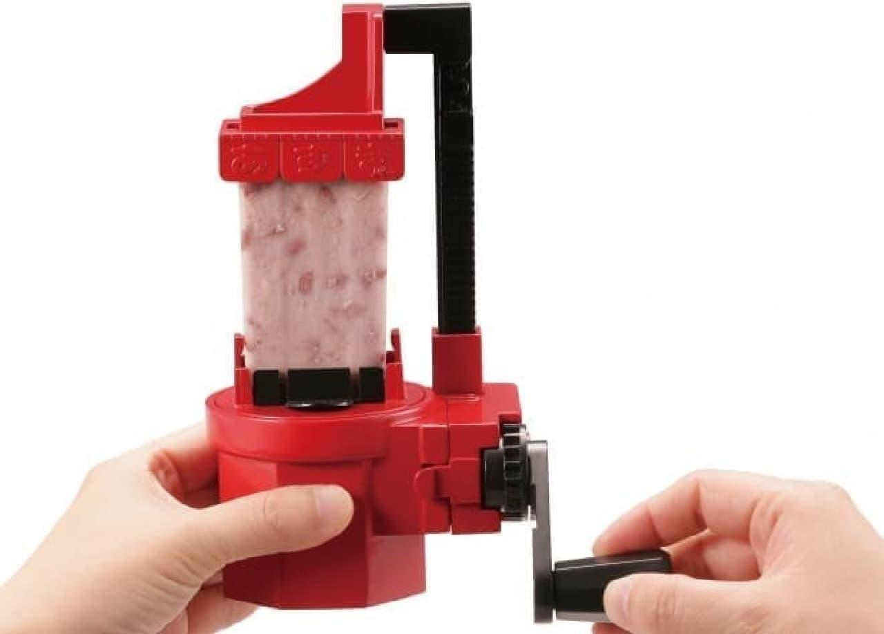 井村屋「あずきバー」専用の氷かき器 『おかしなかき氷 井村屋あずきバー』、