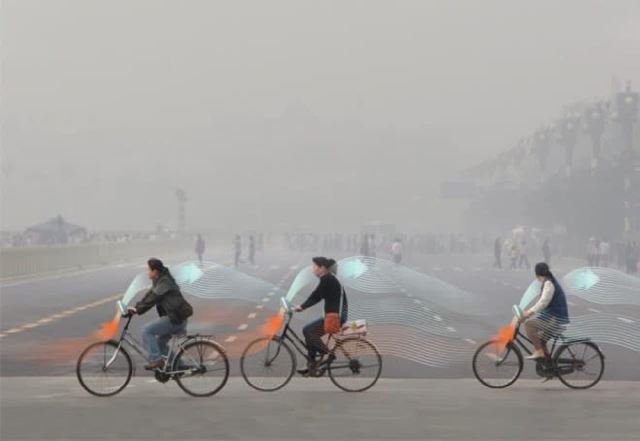 大気を清浄化する自転車「Smog Free Bicycle」