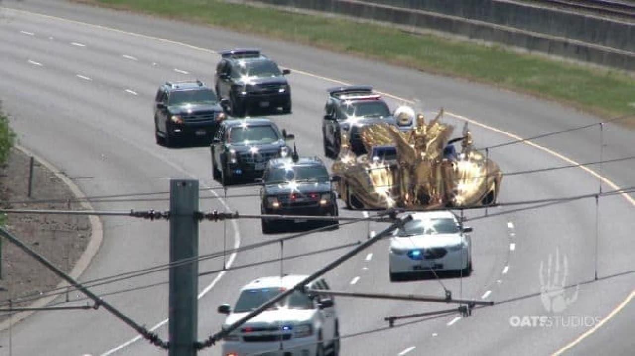 大統領専用車両の写真