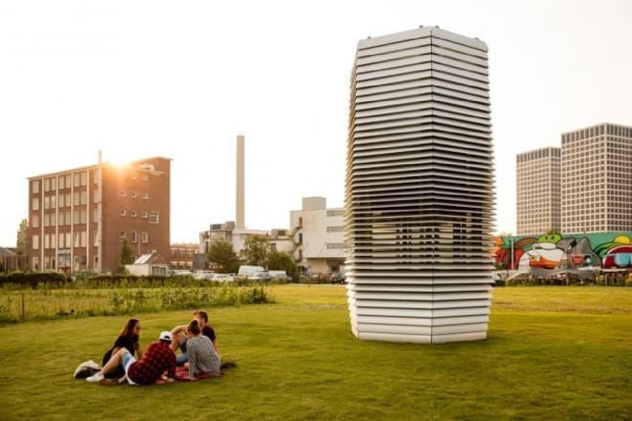 中国北京に設置された「Smog Free Tower」
