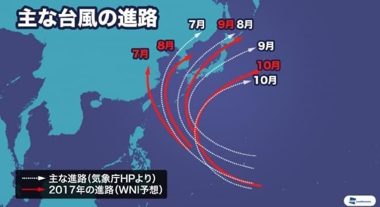 ウェザーニューズが2017年「台風傾向」を発表