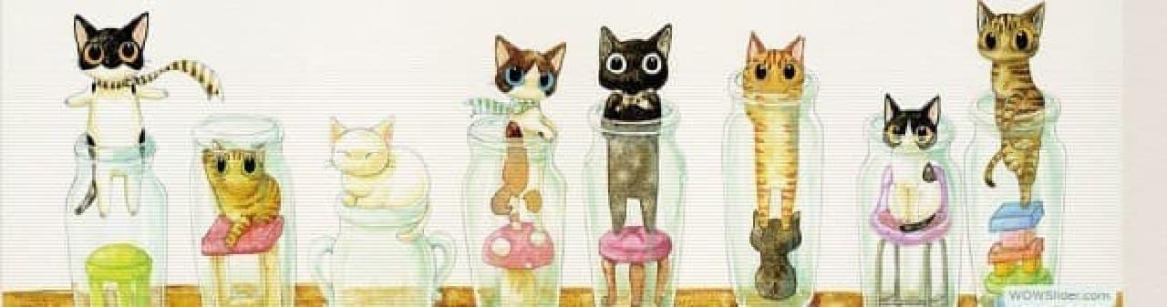 ネコのハンコ「ねこずかん」に、黒猫「もみじちゃん」たちをデザインした「さとるこバージョン」登場