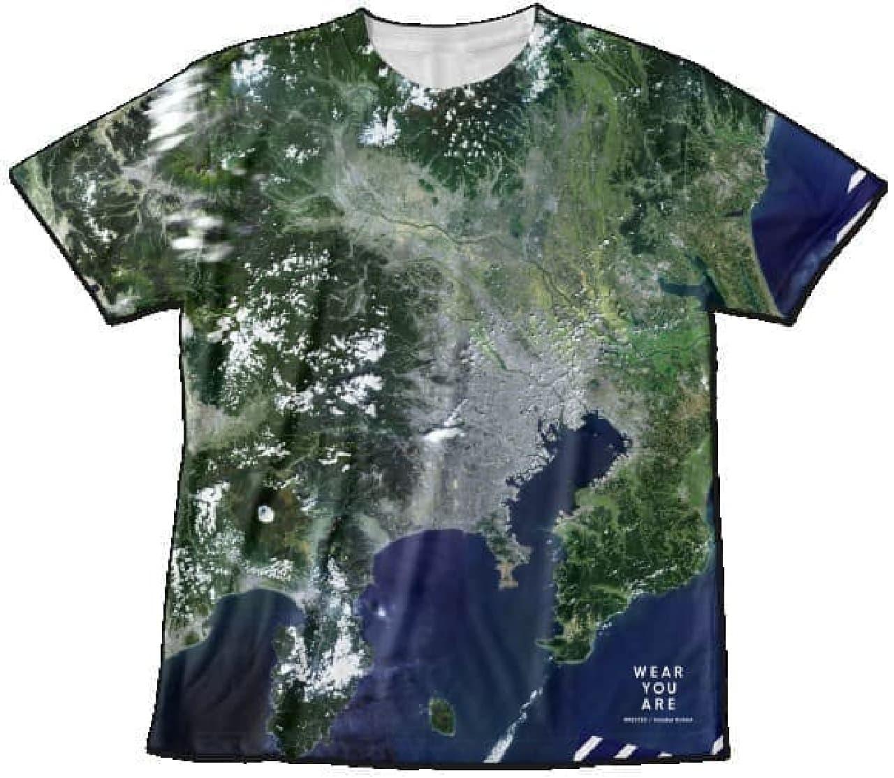 衛星写真Tシャツ画像