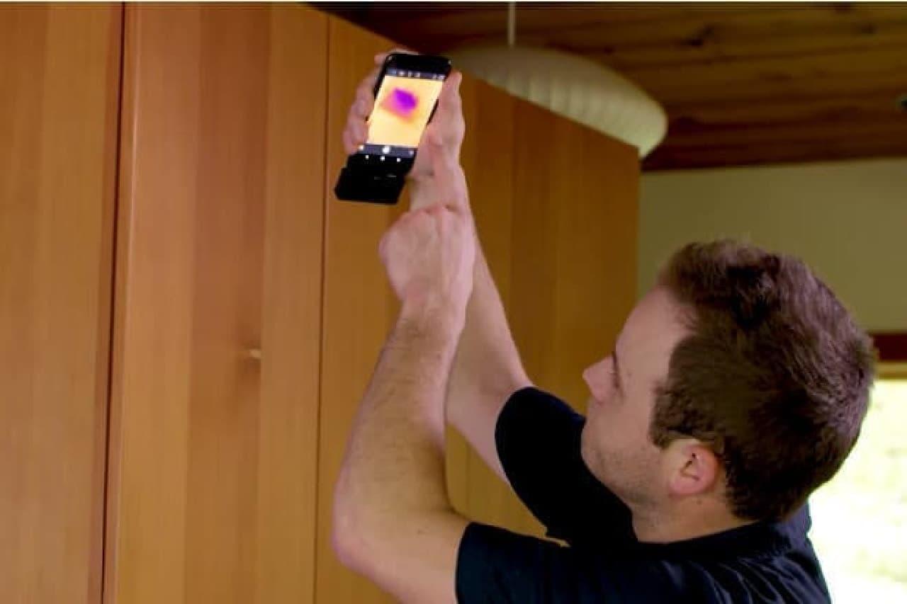 赤外線カメラの利用例
