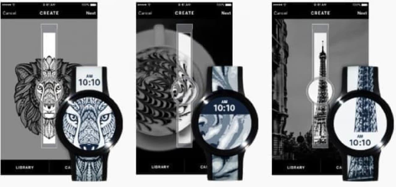 電子ペーパー腕時計