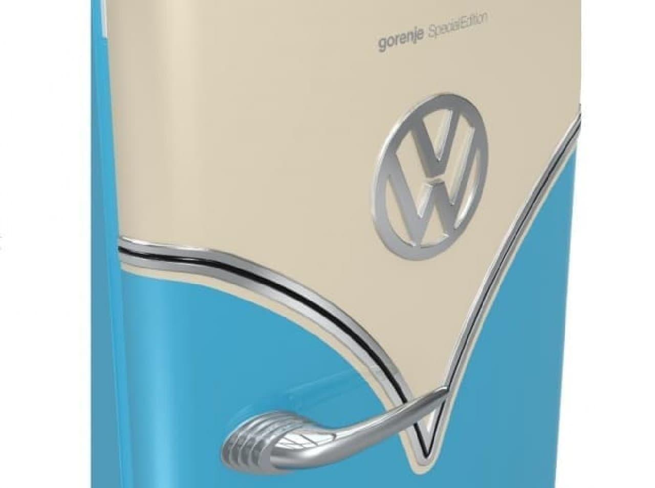 VWバスにインスパイヤされた冷蔵庫「Retro VW Bulli」