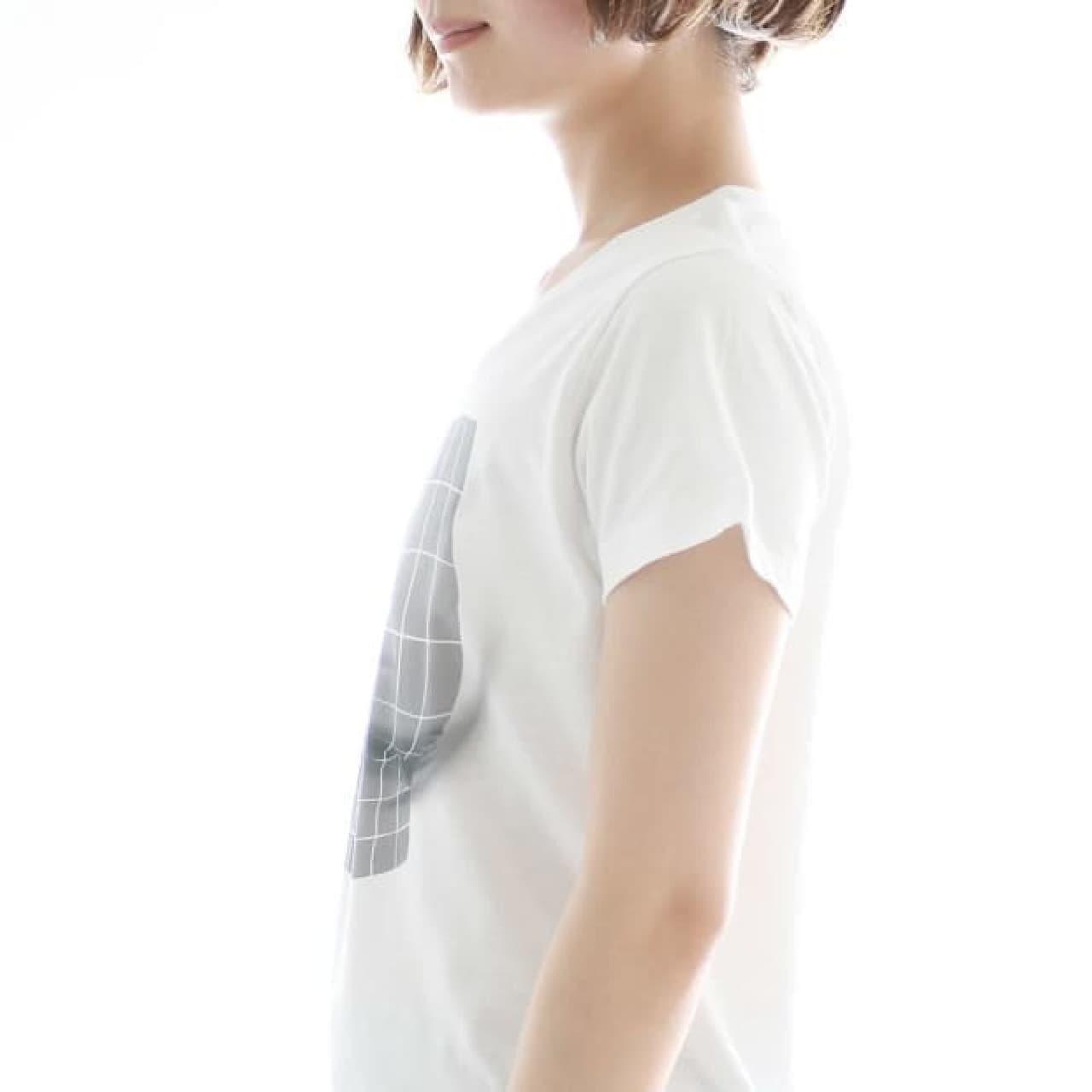 ボリューム感を演出する「妄想マッピングTシャツ/Illusion grid」