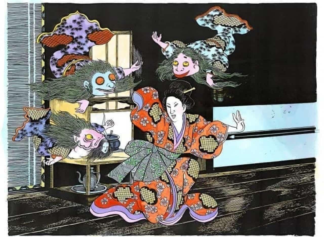 「目玉おやじの目玉パフェ」もコラボイベント「水木しげる×すみだ水族館 水の妖怪トンネル」