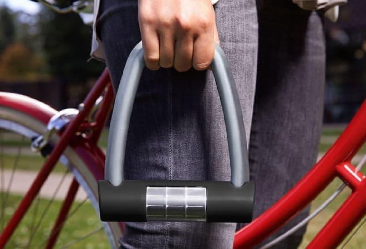 太陽電池で動作する自転車ロック「ELLIPSE(エリプス)」