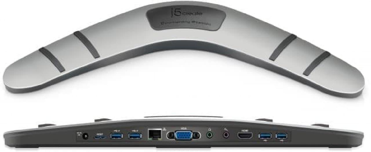 ブーメラン型USBドック