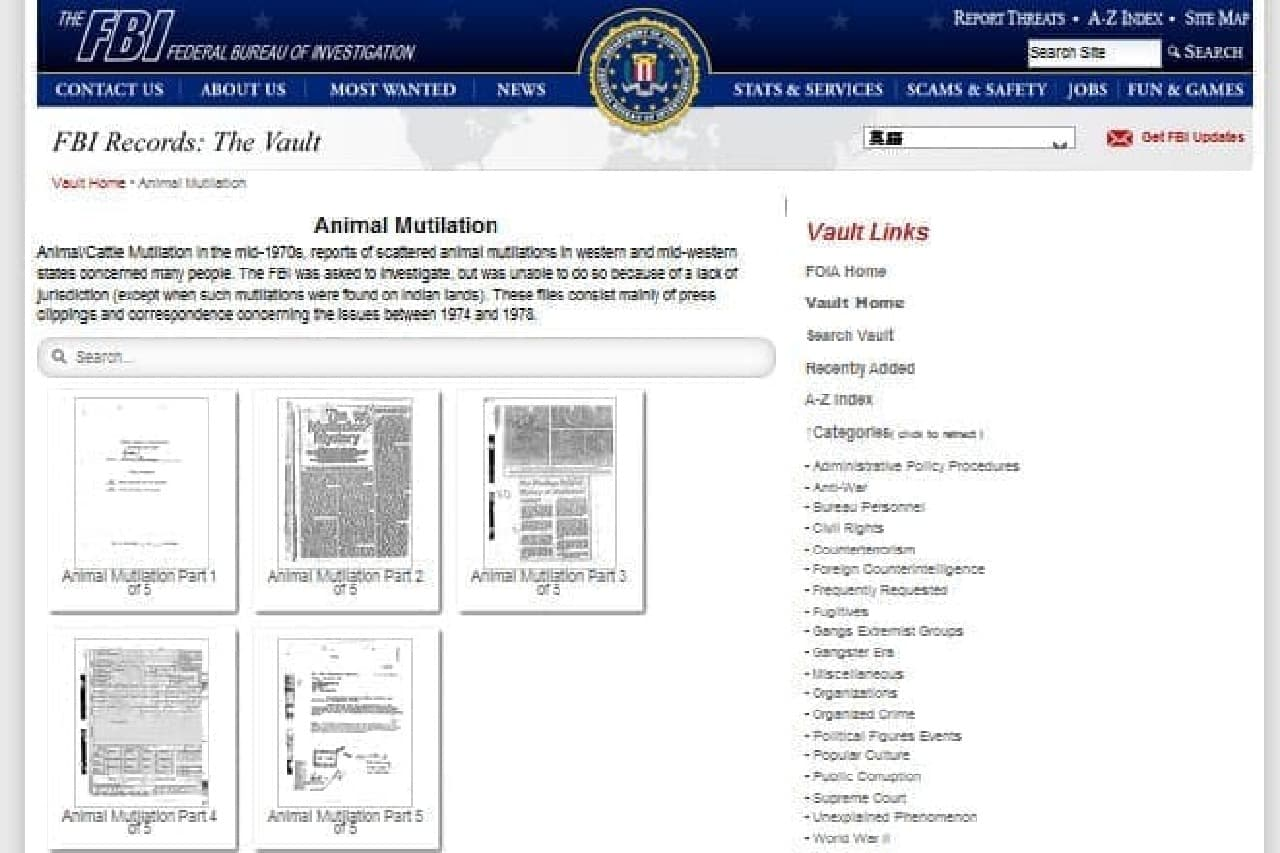 FBIのファイルイメージ
