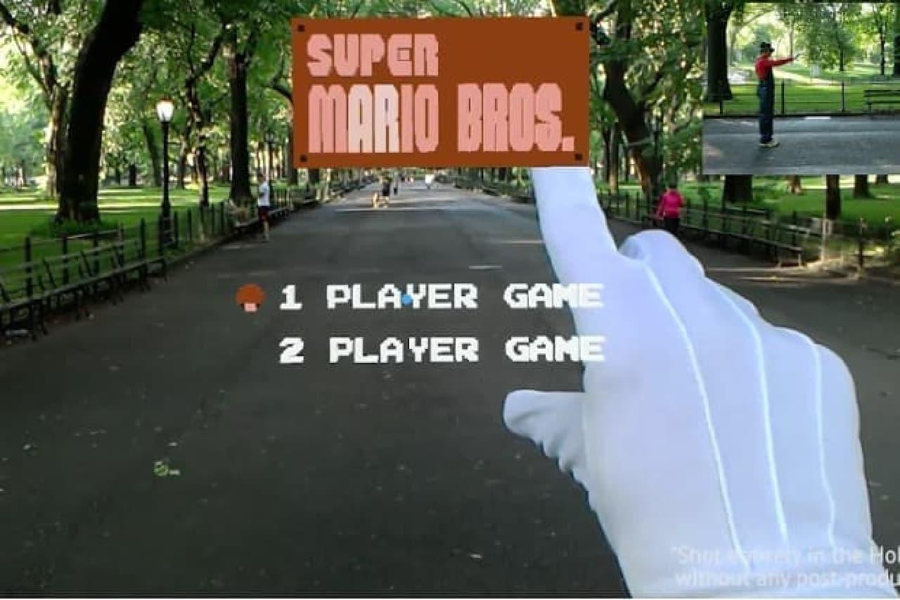 スーパーマリオのゲーム画面
