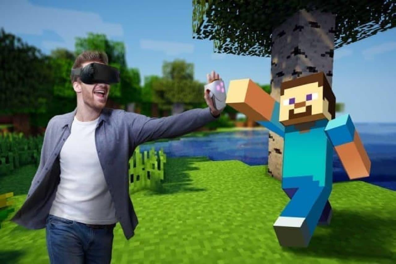 VR映像内のものに触っている感触を得られる「Hapto VR」