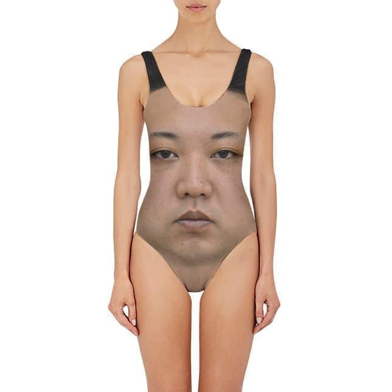金正恩氏がデザインされた水着「KIM JONG UN ONE PIECE SWIMSUIT」