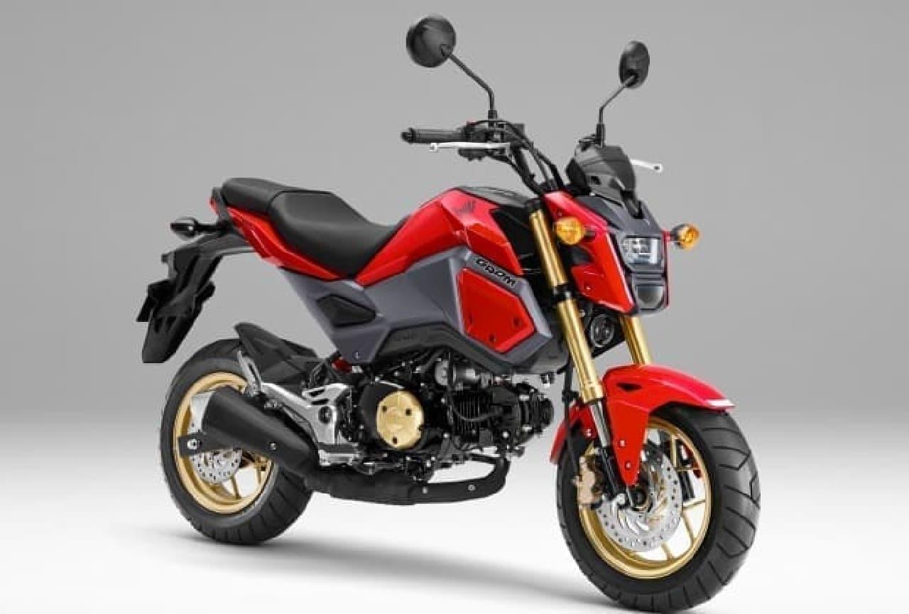 ホンダ、125ccスポーツモデル「グロム」のカラーリングを変更
