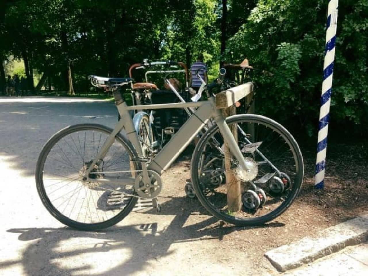 前輪駆動の電動アシスト自転車「ElBike」