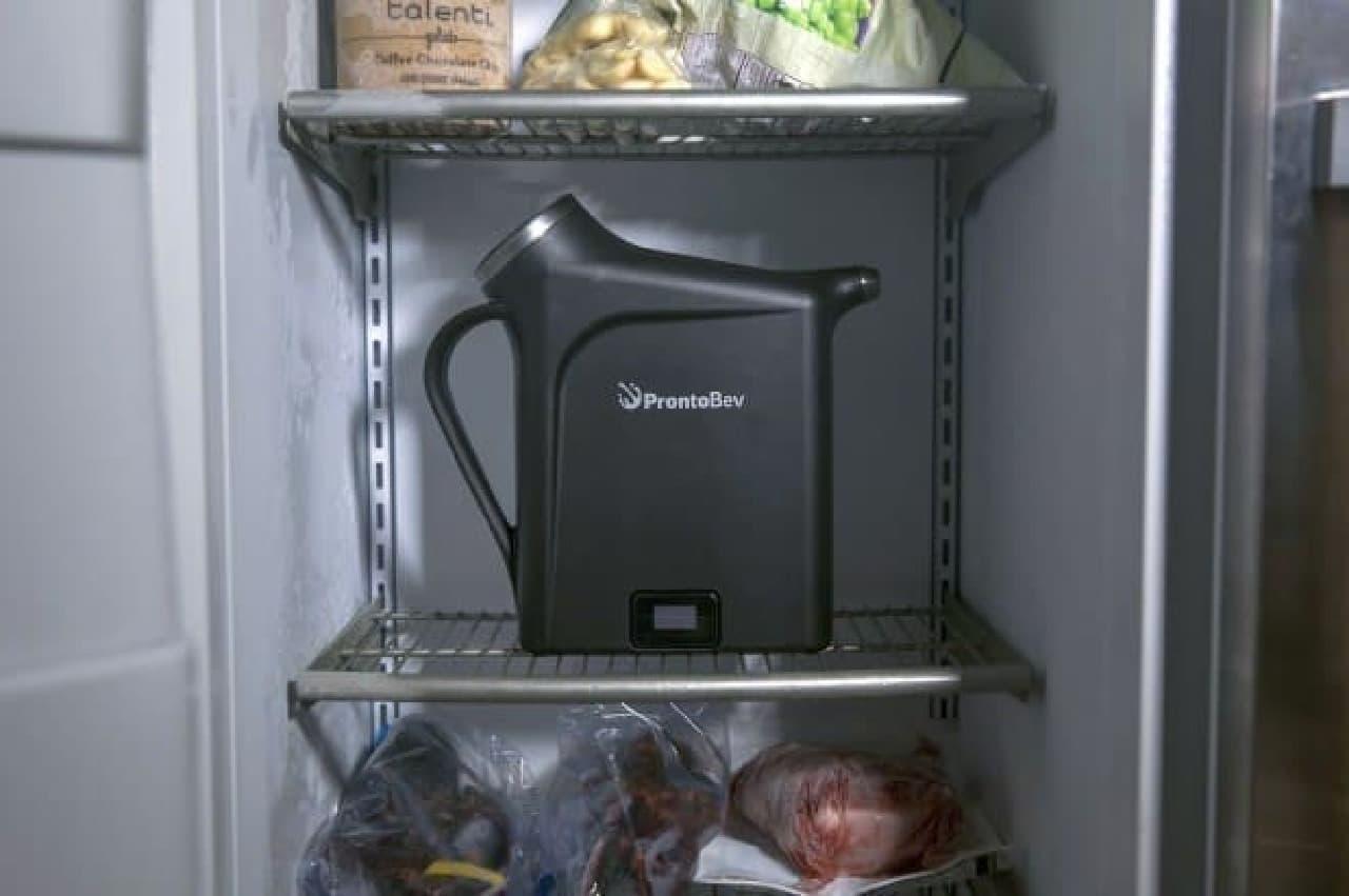 30秒で飲み物をキンキンに冷やせる「ProntoBev」