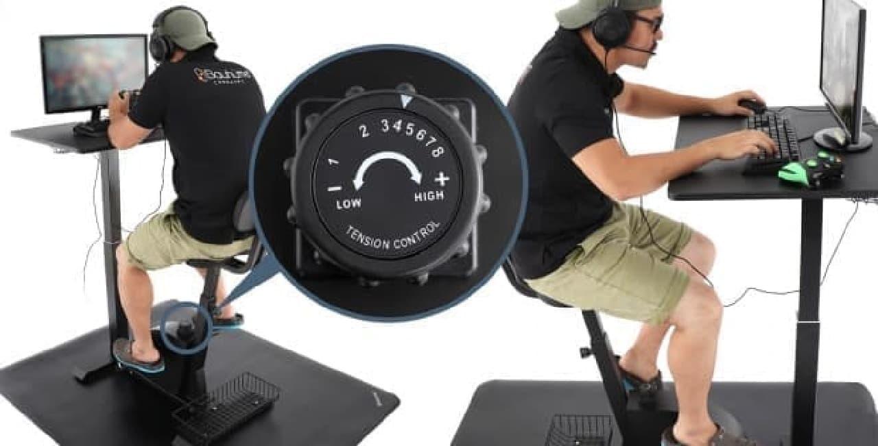 デスク一体型フィットネスバイク「エクササイズデスク」