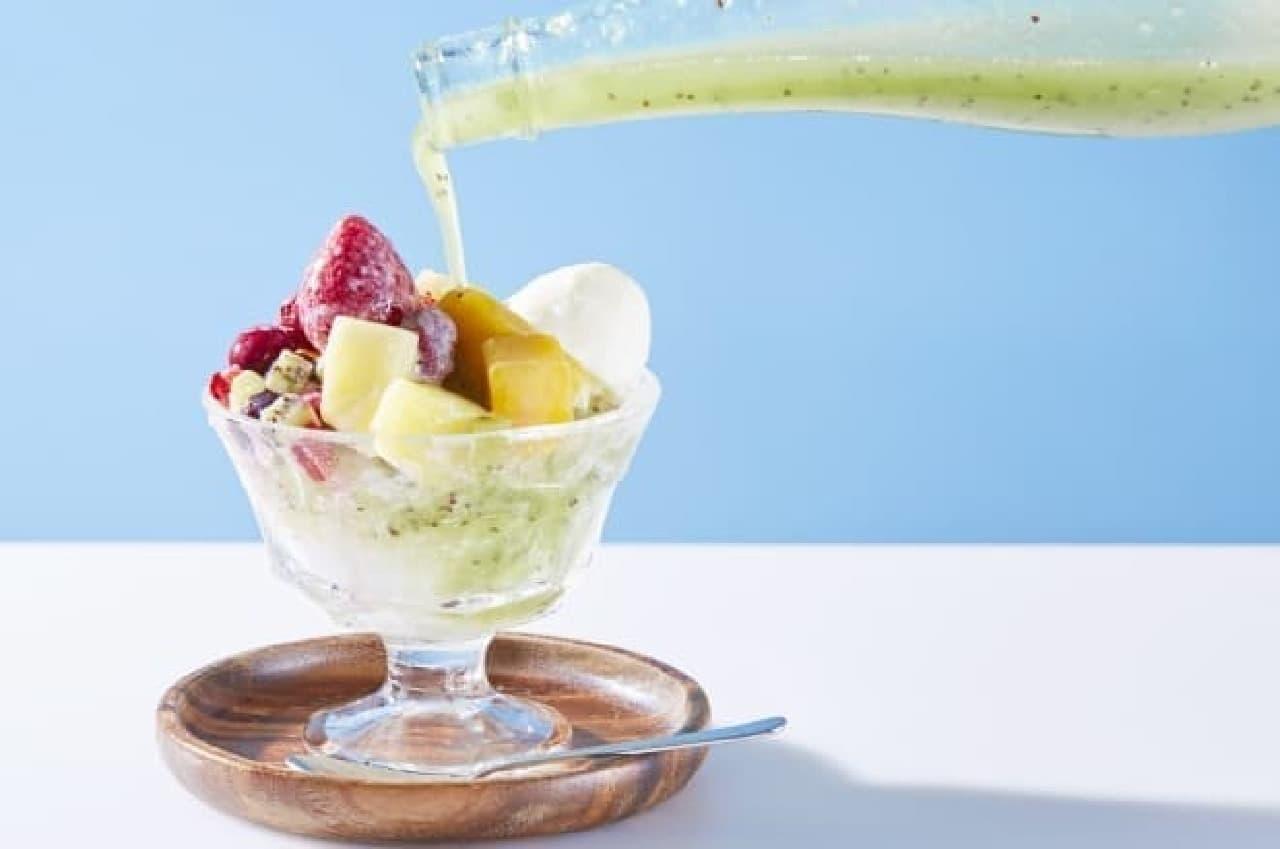 果実酒かき氷のイメージ