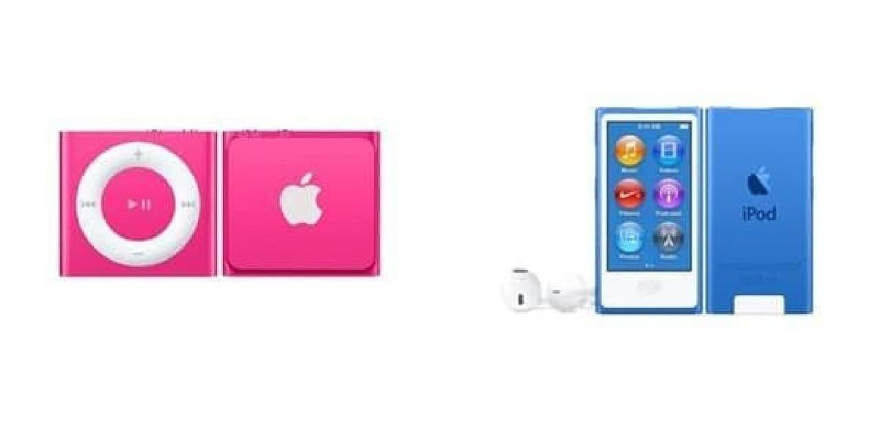iPodの旧製品のイメージ