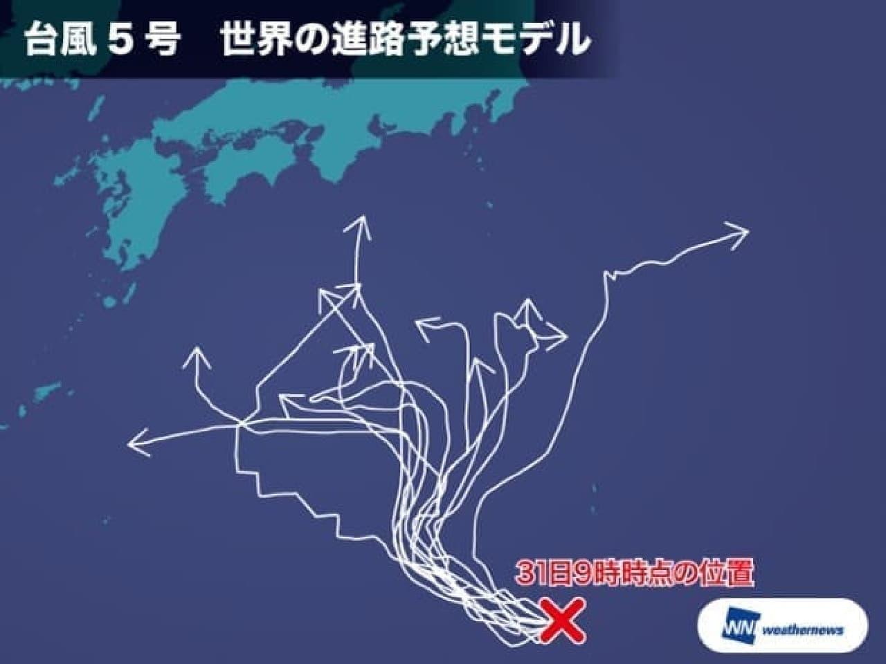 台風5号のイメージ