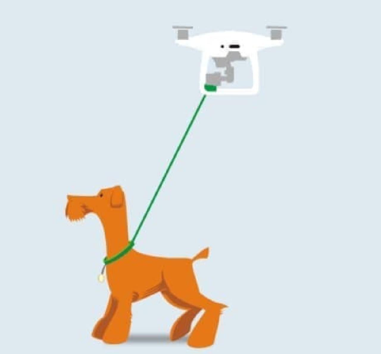 犬の散歩用ドローン「Proflight Walkies Dog Drone」