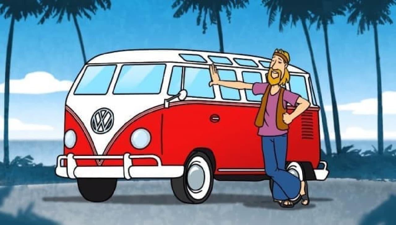 1960年代のカリフォルニア文化を彩ったフォルクスワーゲンバス