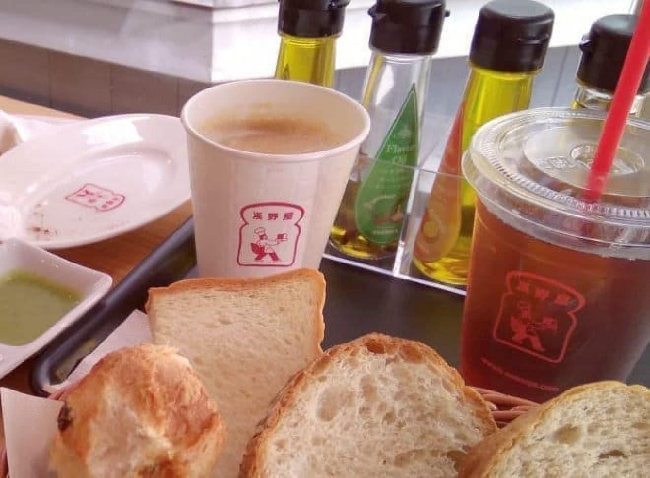 浅野屋の朝食セット
